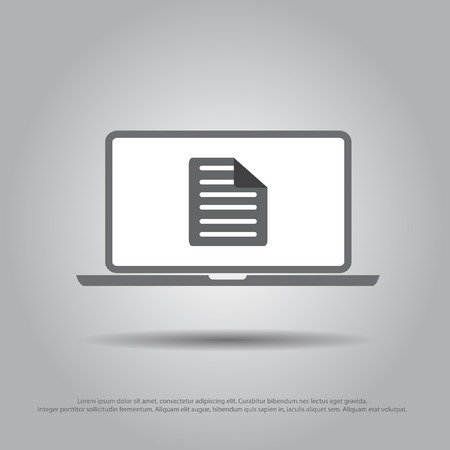 paper in laptop vector icon Vector