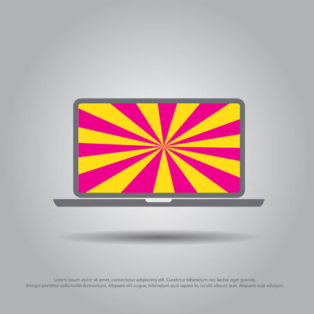 sunshine background: sunshine background  in laptop vector icon