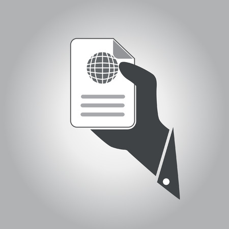 hand hold document  vector icon Vector