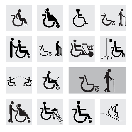 disable: people disable  icon  Illustration