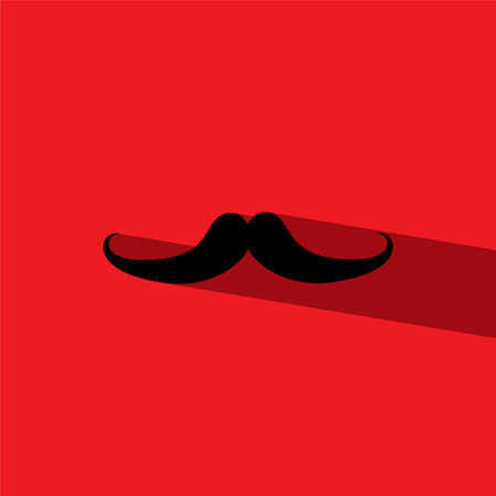 hair mask: mustache flat icon