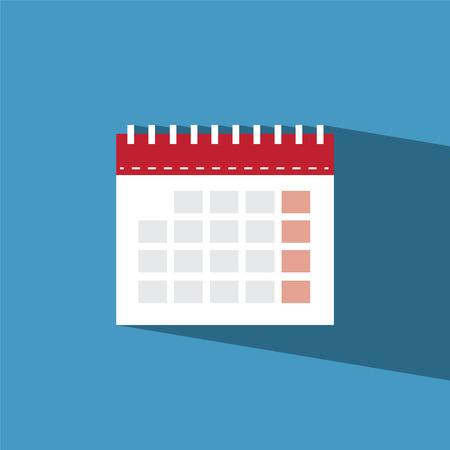 Calendar icon piatta Archivio Fotografico - 31023173