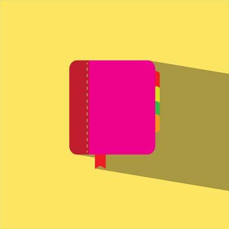 diary book: diary book flat icon Illustration