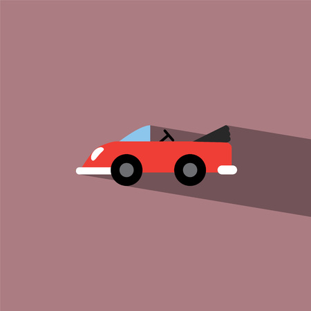 racing: Racing car flat icon  Illustration