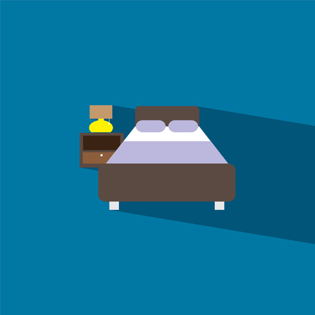 bed: bed flat icon  vector illustration eps10