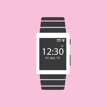 smart watch flat icon illustration Illustration
