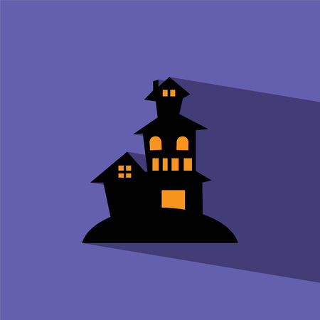 horror house: haunted house flat icon illustration Illustration