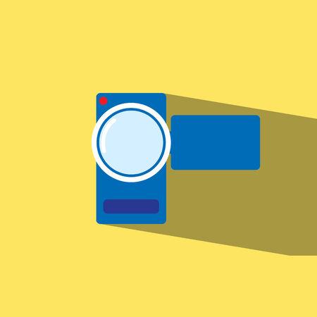 camcorder: camcorder flat icon illustration Illustration
