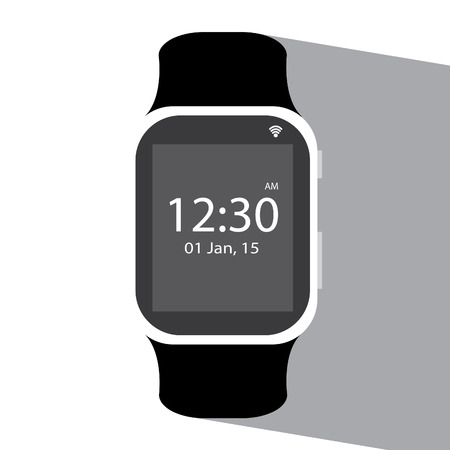 smart watch flat icon illustration Çizim