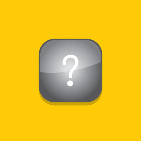questionmark button icon flat  vector illustration  Vector