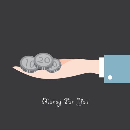 woman holding money: hand hold money flat icon  vector illustration