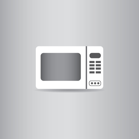 microwave ovens: microwave oven flat icon  vector illustration  Illustration