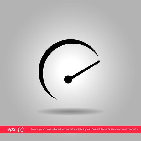 rev counter: mile meter icon vector illustration. Illustration