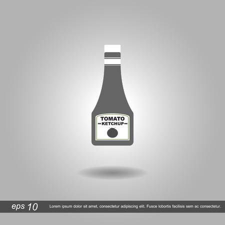 sauces: sauces icon vector illustration on grey background Illustration