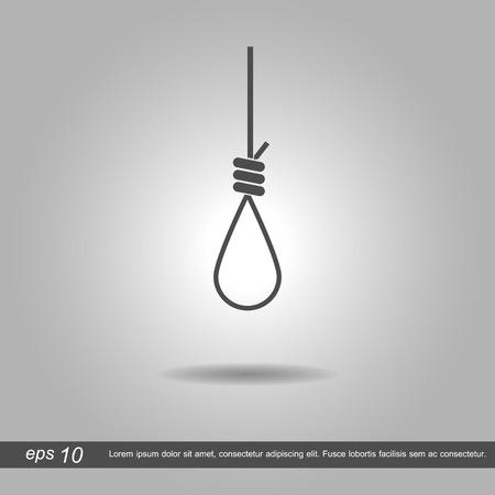 capital punishment: gibbet loop vector illustration  on white background