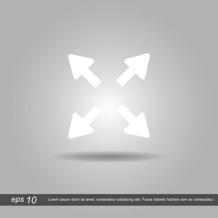 ampliar: Estender, re-size, Alargar o s�mbolo �cone da ilustra��o do vetor eps10 no fundo branco Ilustra��o