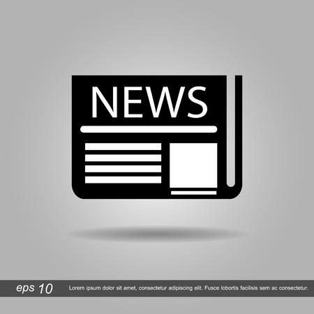 fake newspaper: newspaper vector illustration eps10