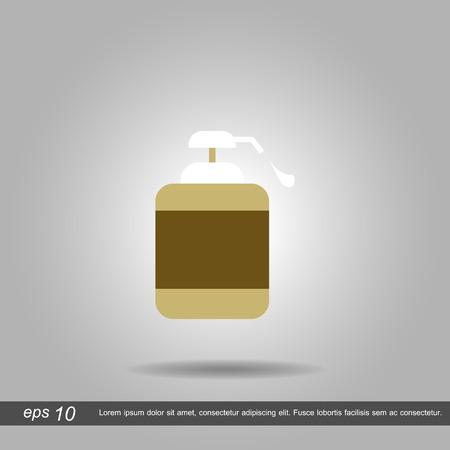 dispenser: Gel, Foam Or Liquid Soap Dispenser Pump Plastic Bottle icon vector illustration eps10 on white background