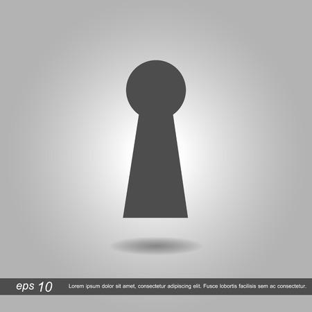 empty keyhole: vector illustration eps10 Illustration