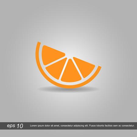 naranja color: naranja icono de ilustraci�n vectorial sobre fondo gris