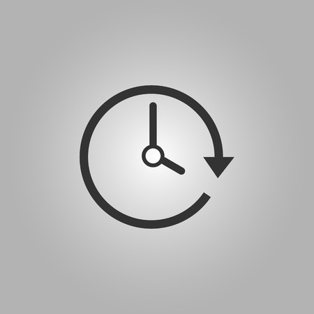 the passage: Passage of Time flat icon vector illustration  on grey background