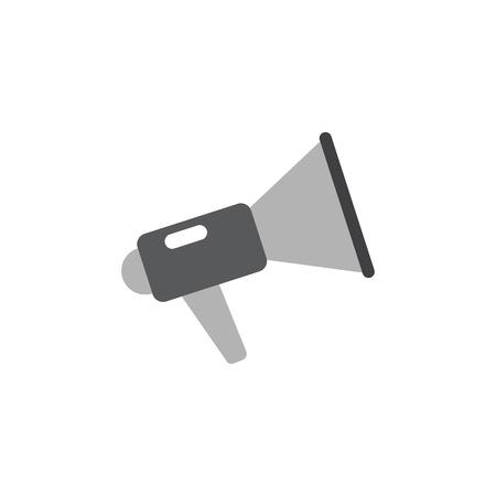 ruidoso: Ilustraci�n ruidoso meg�fono icono de vectores en el fondo blanco