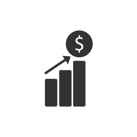Increased revenue icon vector illustration  on white background  イラスト・ベクター素材