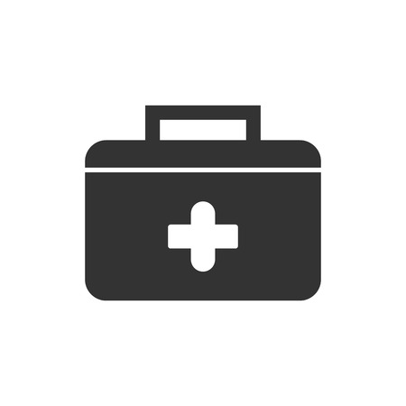 First Aid Suitcase icon vector illustration  on white background Çizim