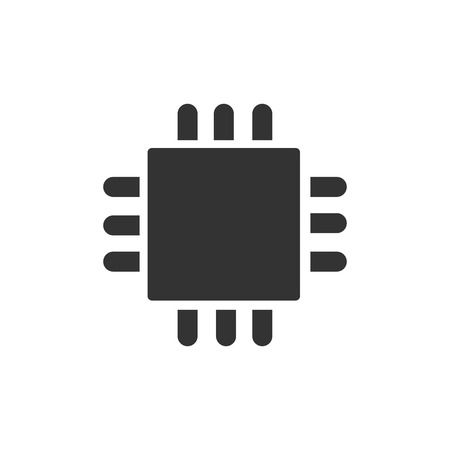 computer cpu: Computer CPU icon vector illustration  on white background