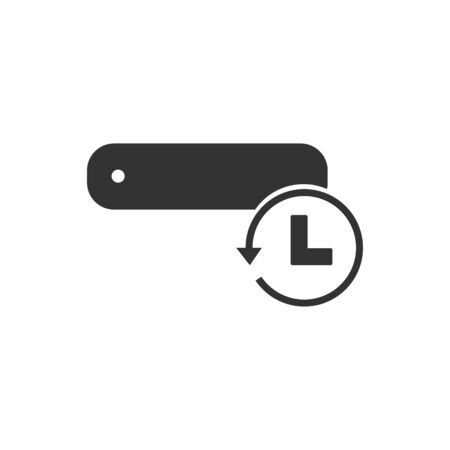 temporal: Temporal data storage symbol icon vector illustration  on white background