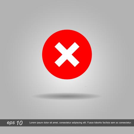 false: false symbol icon vector illustration eps10 on white background Illustration