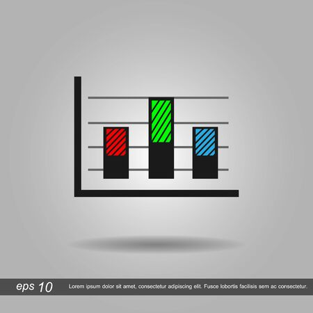 business symbol: chart graph business symbol icon vector illustration  on white background