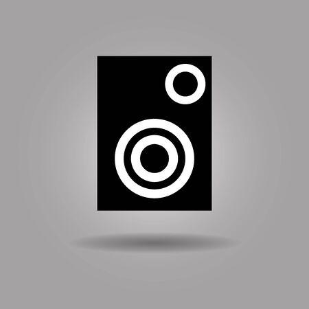 Big Music Player Speaker icon vector illustration  on grey background