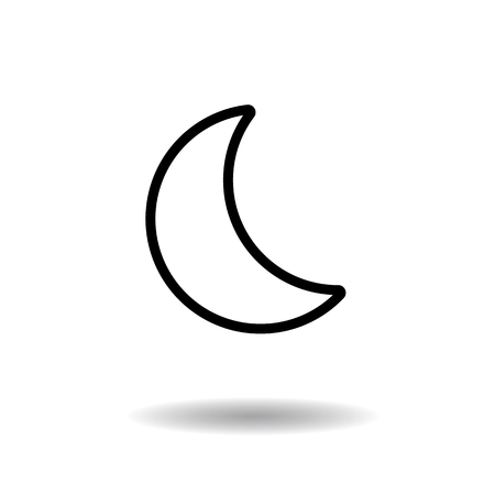 phase: Moon phase outline icon vector illustration on white background