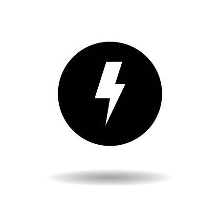 lighting button: Lighting Button icon vector illustration  on white background