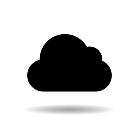 Plain cloud icon vector illustration  on white background
