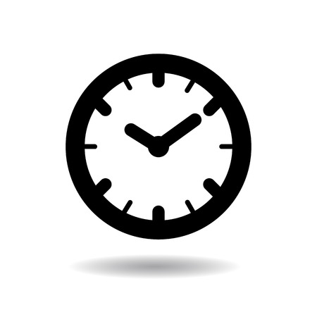 Wall clock icon vector illustration on white background
