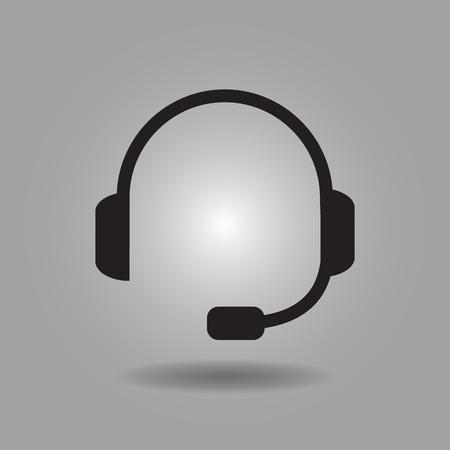 servicio al cliente: Servicio al Cliente icono de ilustración vectorial eps10 sobre fondo gris Vectores