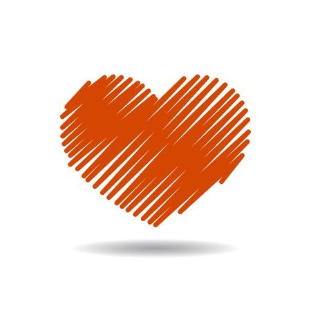 saint valentin coeur: coeur rouge illustration vectorielle eps10 sur fond gris
