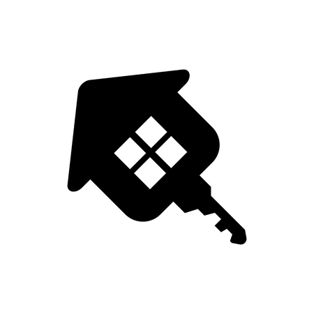 investment real state: House key real state business symbol icon vector illustration eps10 on white background