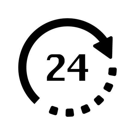 24 hour: 24 hour service icon vector illustration eps10 on white background