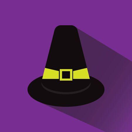 pilgrim hat: Pilgrim Hat long shadow  Illustration