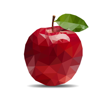 apple polygon on white background
