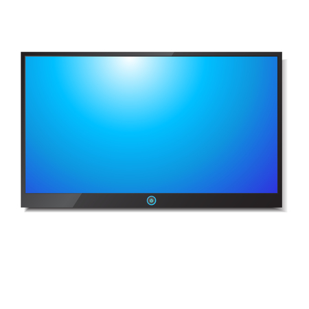 screen: TV Screen on white background  Illustration