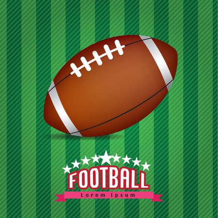 pigskin: football on white background