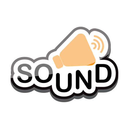 woofer: sound and speaker icon text design on white background isolate vector illustration eps 10