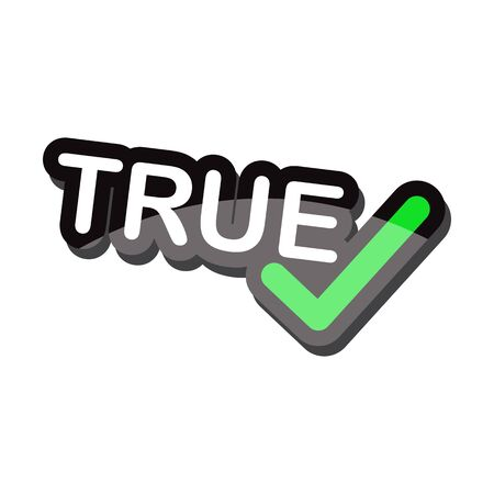 true: icon true text design on white background isolate vector illustration eps 10