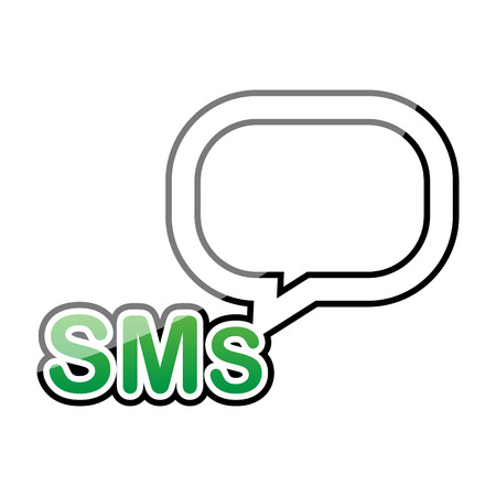 sms text: sms text box icon vector illustration eps 10 Illustration