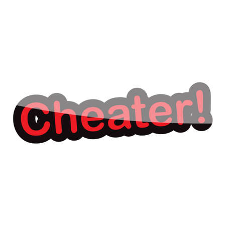 cheater: cheater text design on white background isolate vector illustration eps 10