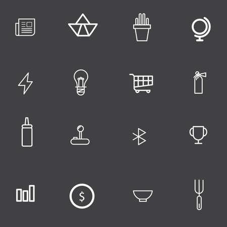 extinguishers: outline icon set for graphic design vector illustration eps 10